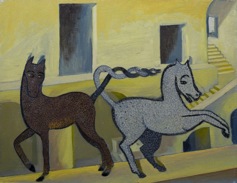 3. War Horses on Parapet